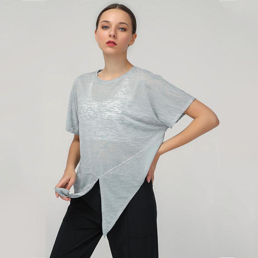 素色透膚感運動罩衫短T,,,K2050032,素色透膚感運動罩衫短T,