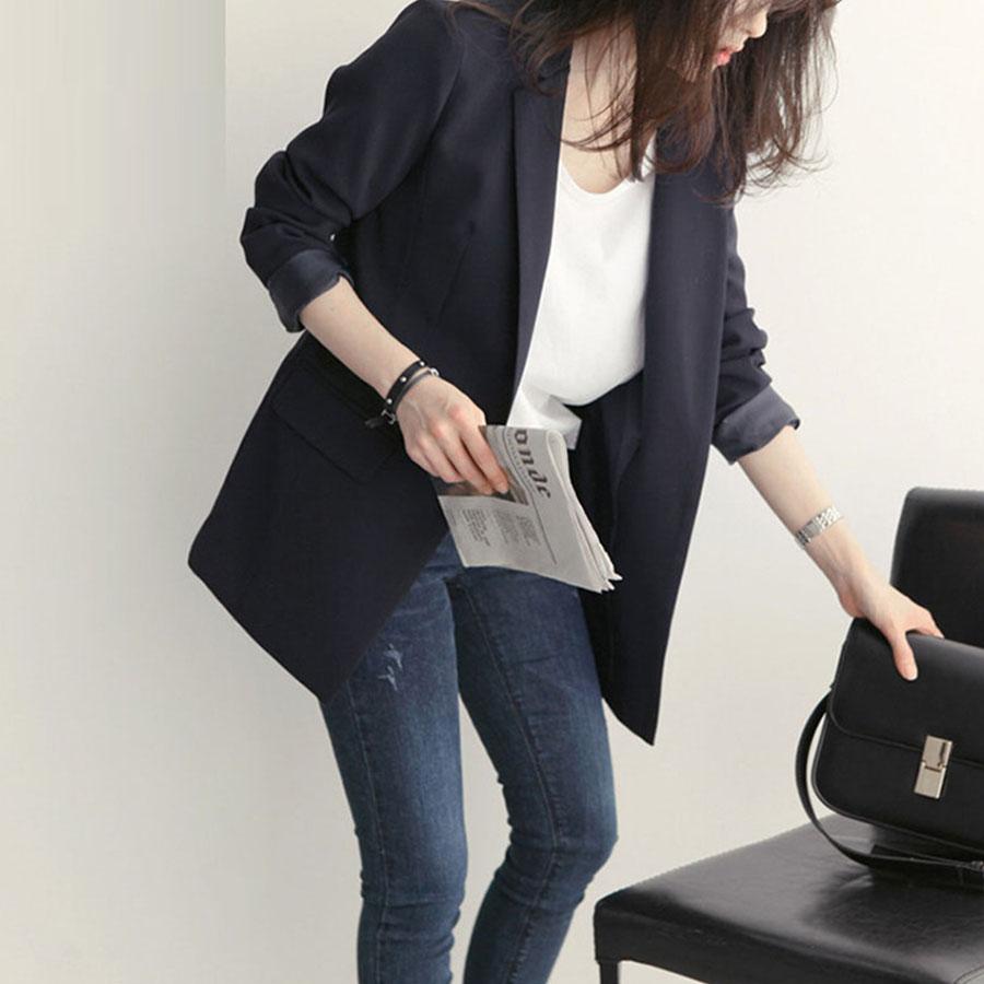 韓版俐落顯瘦西裝外套