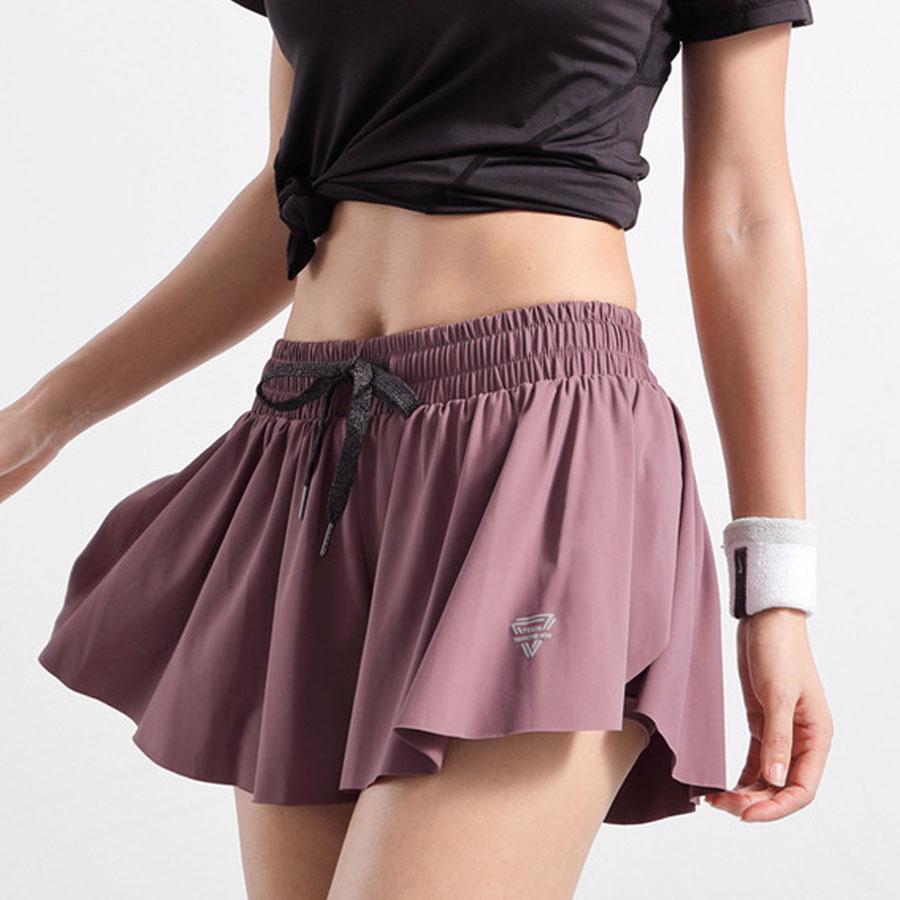 顯瘦性感防走光雙層運動短褲