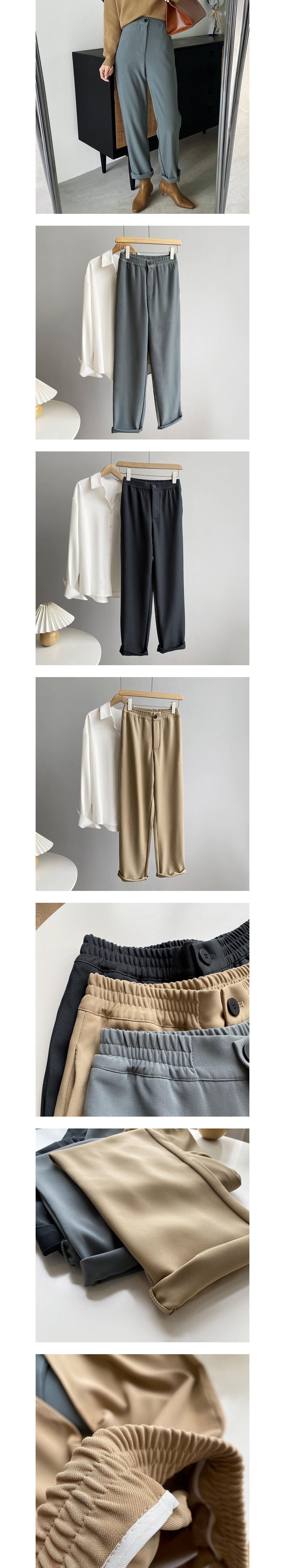 基本百搭休閒感西裝褲.3色