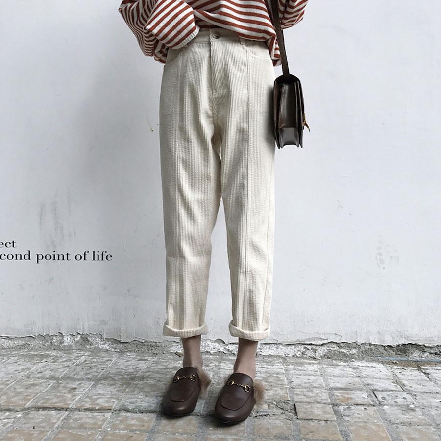 燈芯絨直筒顯瘦休閑長褲.S-L,,,K3020050,燈芯絨直筒顯瘦休閑長褲.S-L,