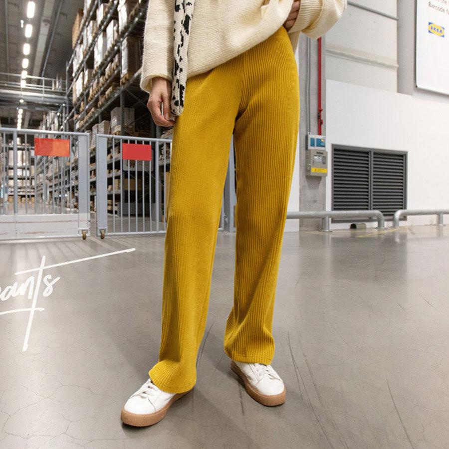 多色燈芯絨微喇叭休閒褲.S-XL,,,K3020051,多色燈芯絨微喇叭休閒褲.S-XL,