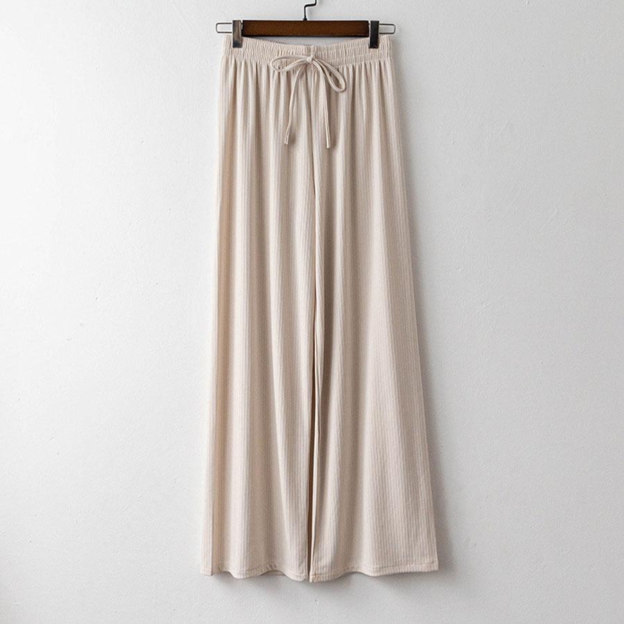 坑條素面舒適長寬褲,,,K3020063,坑條素面舒適長寬褲,