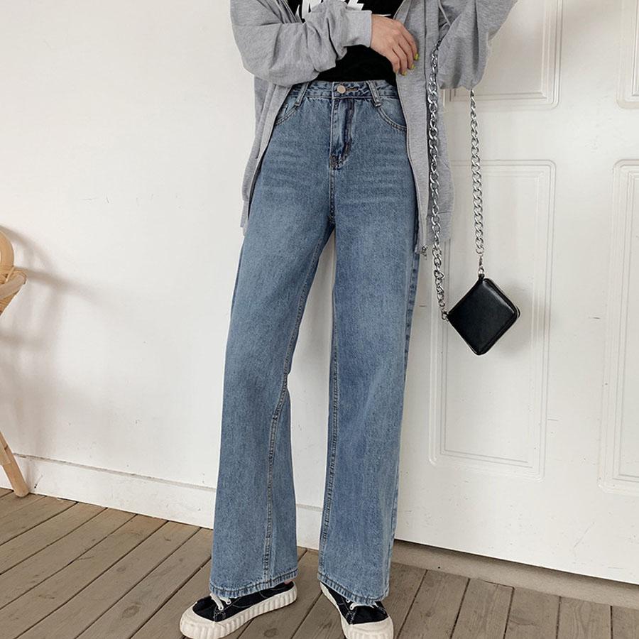 高腰修身牛仔寬褲,,,K3040060,高腰修身牛仔寬褲,