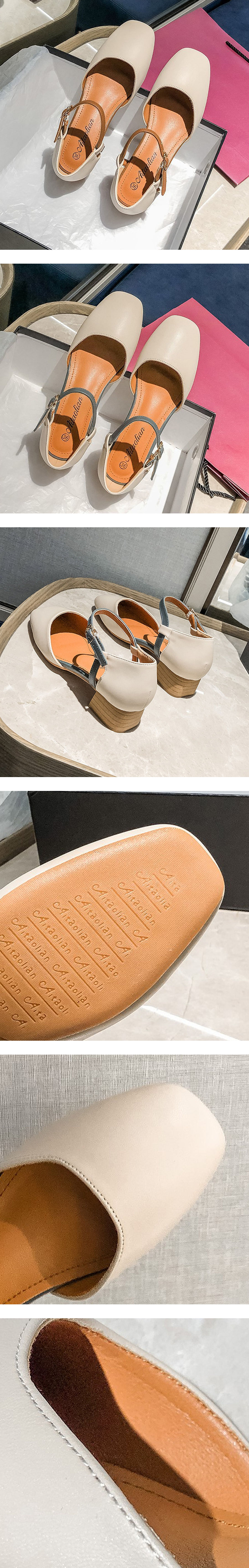 經典瑪麗珍小方頭跟鞋.有大碼.2色