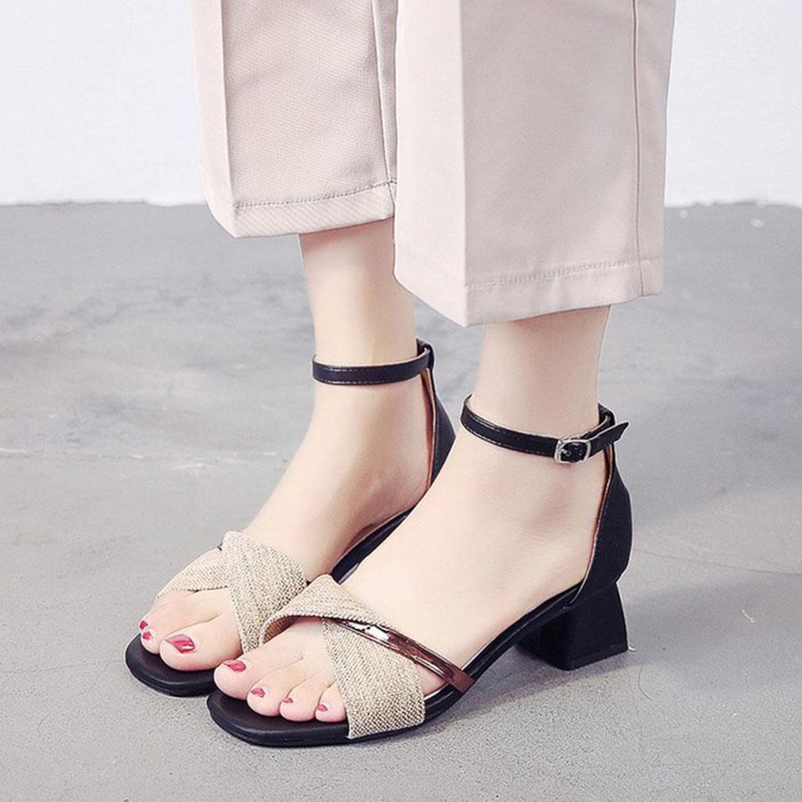 一字扣帶粗跟百搭羅馬中跟鞋.2色,,,K6010017,一字扣帶粗跟百搭羅馬中跟鞋.2色,