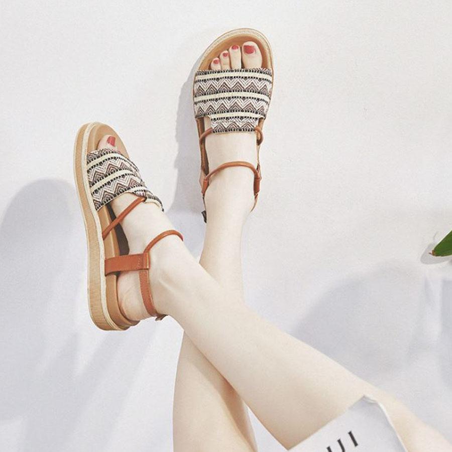 民族風圖騰寬版厚底涼鞋.2色,,,K6010019,民族風圖騰寬版厚底涼鞋.2色,