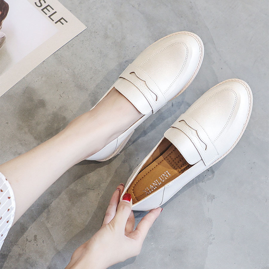 極簡素面可後踩低跟樂福鞋.2色,,,K6010030,極簡素面可後踩低跟樂福鞋.2色,