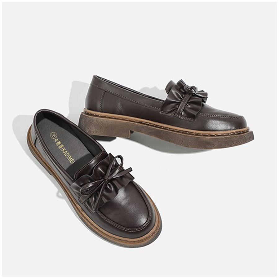 蝴蝶結樂福低跟皮鞋.35~40,,,K6010038,蝴蝶結樂福低跟皮鞋.35~40,