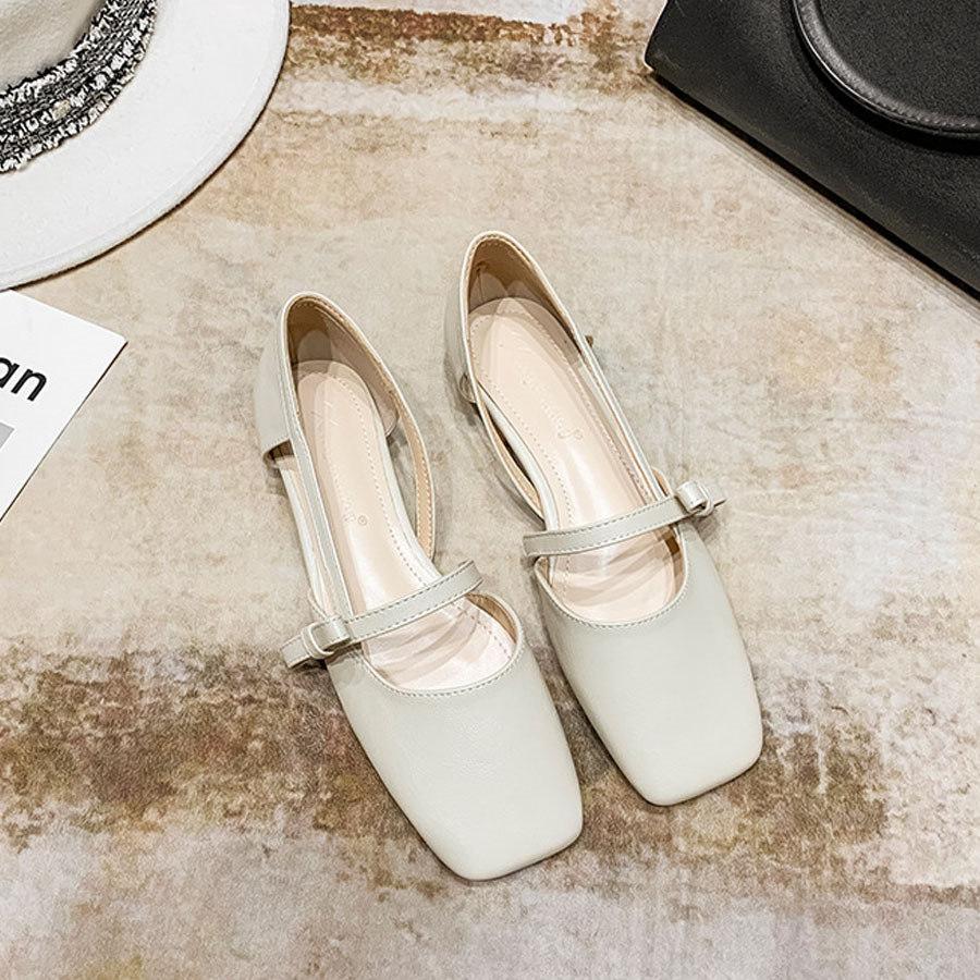 小清新蝴蝶結方頭低跟鞋,,,K6010053,小清新蝴蝶結方頭低跟鞋,