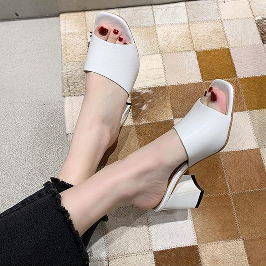 一字寬版舒適高跟拖鞋7cm,,,K6010054,一字寬版舒適高跟拖鞋7cm,