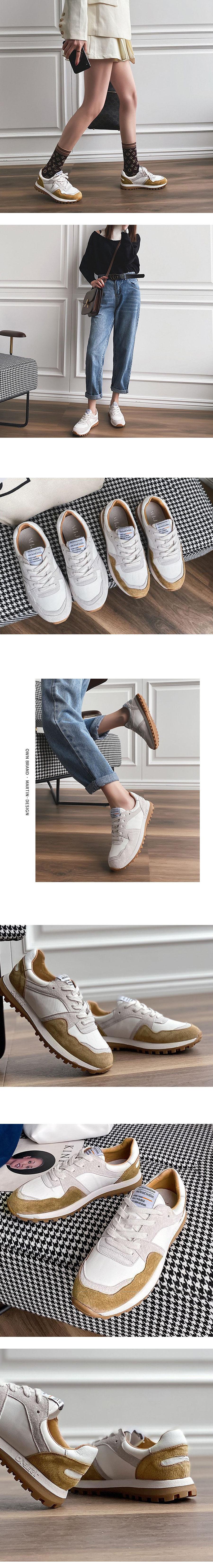 韓版暖色復刻版休閒鞋