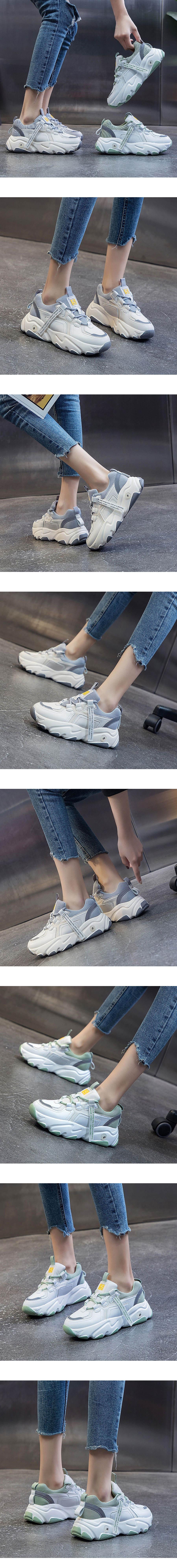 織帶厚底老爹鞋.2色