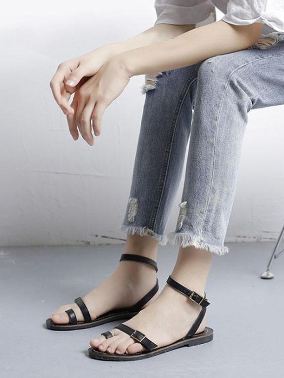 涼夏必備.一字帶繫綁踝低跟涼鞋,,,K6020024,涼夏必備.一字帶繫綁踝低跟涼鞋,