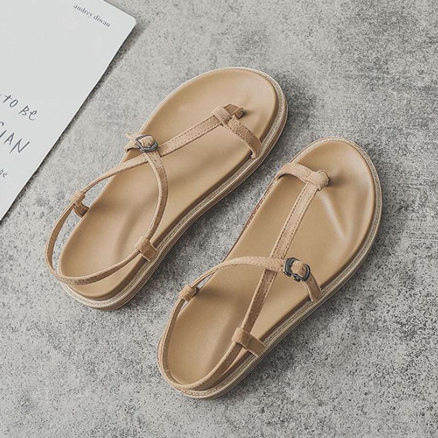 簡約平底套指羅馬涼鞋,,,K6020037,簡約平底套指羅馬涼鞋,