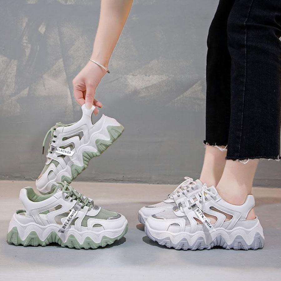 波浪厚底運動涼拖鞋.2色