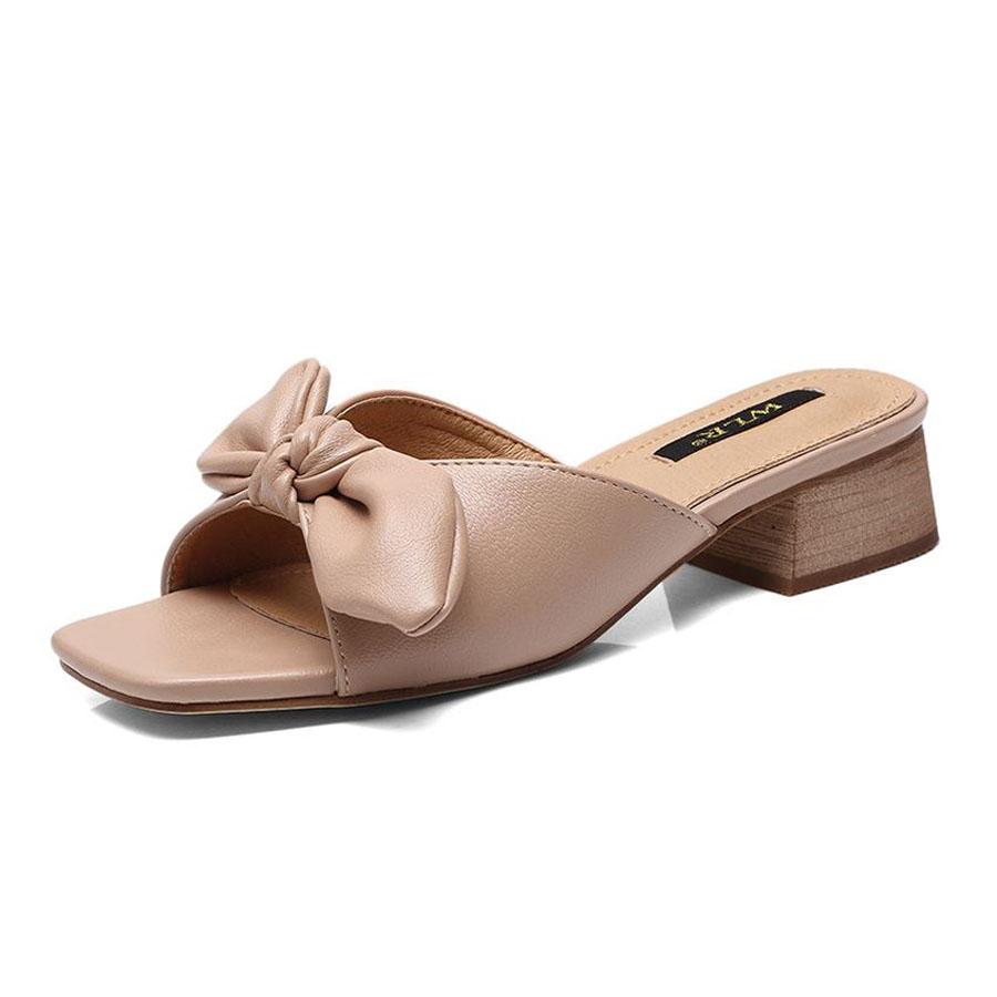 素雅蝴蝶結低跟拖鞋.有大碼.2色,,,K6020050,素雅蝴蝶結低跟拖鞋.有大碼.2色,