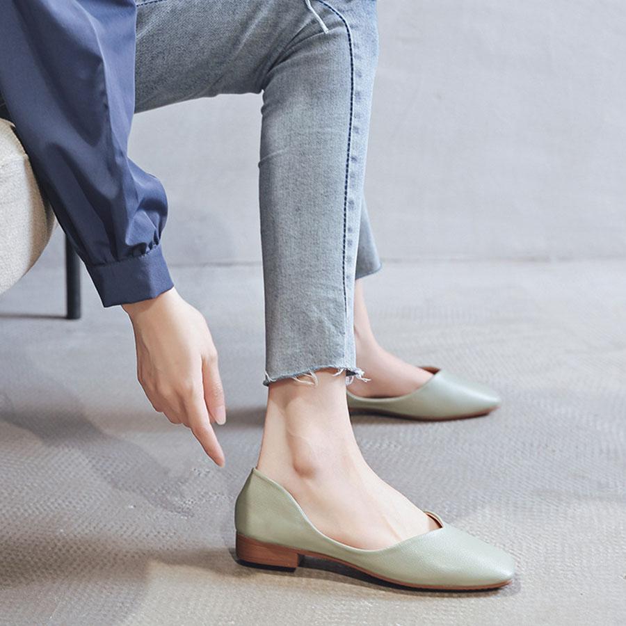 超輕量軟底淺口豆豆鞋.3色.有大碼