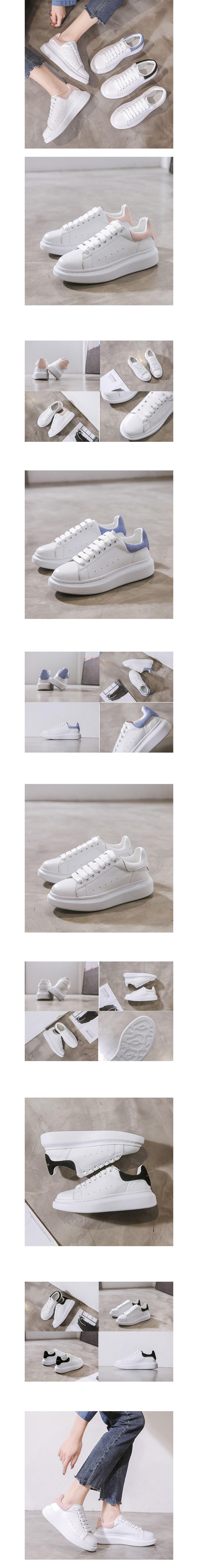 經典百搭真皮拚色小白鞋.4色