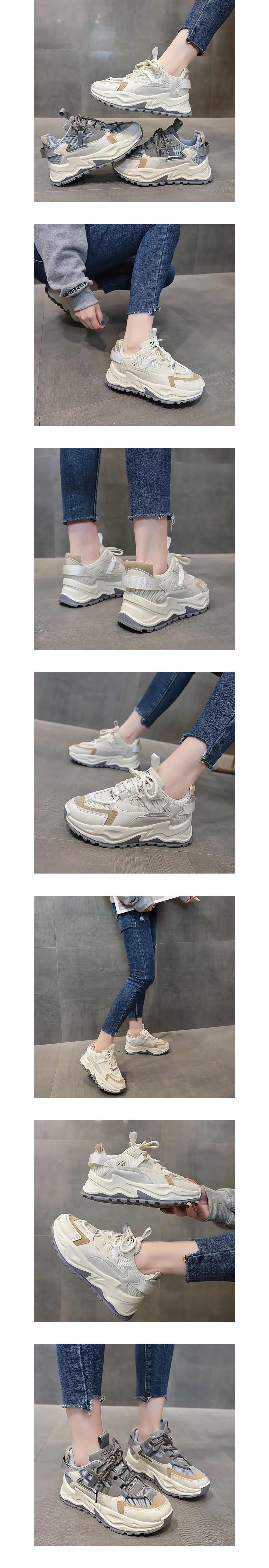 顯高拚色休閒運動鞋