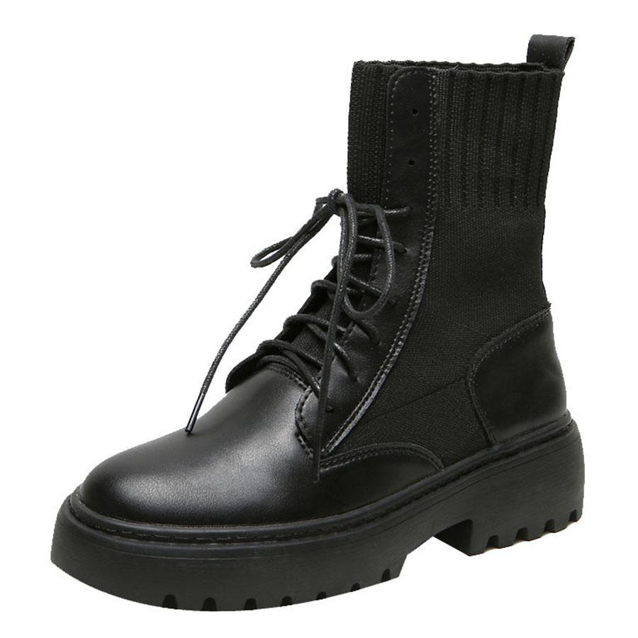 率性中高筒馬丁拼接襪靴.有大碼.35~43,,,K6030006,率性中高筒馬丁拼接襪靴.有大碼.35~43,