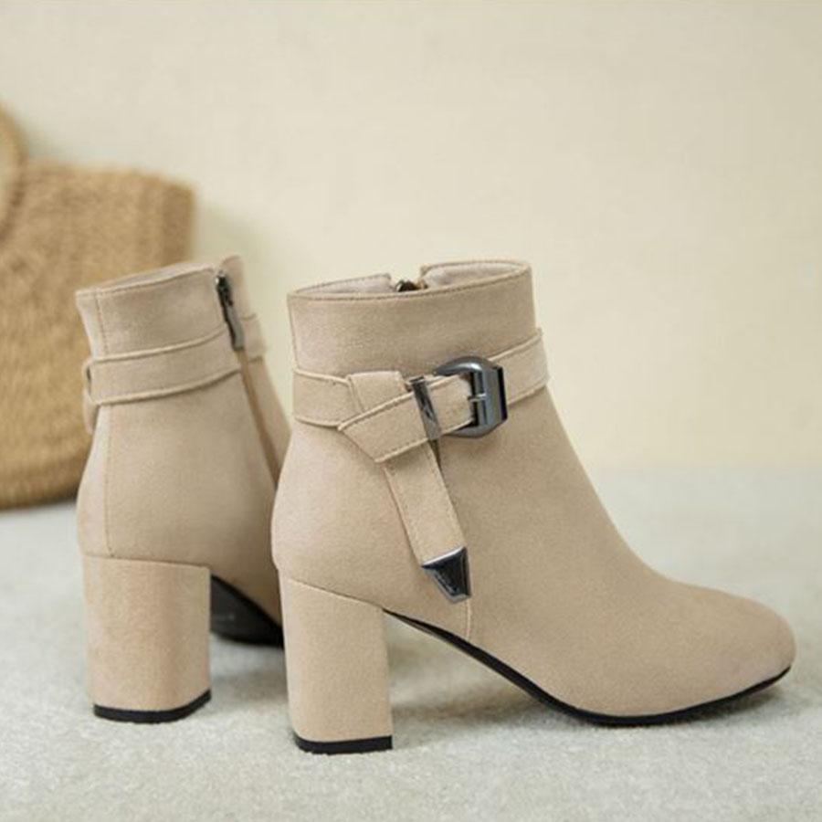 時髦釦環.側拉鍊顯瘦中筒跟靴,,,K6030022,時髦釦環.側拉鍊顯瘦中筒跟靴,