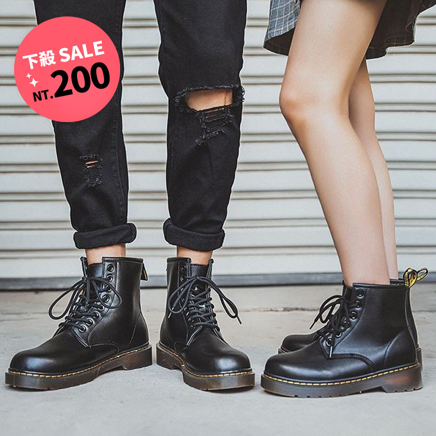 百搭工裝靴潮流情侶鞋