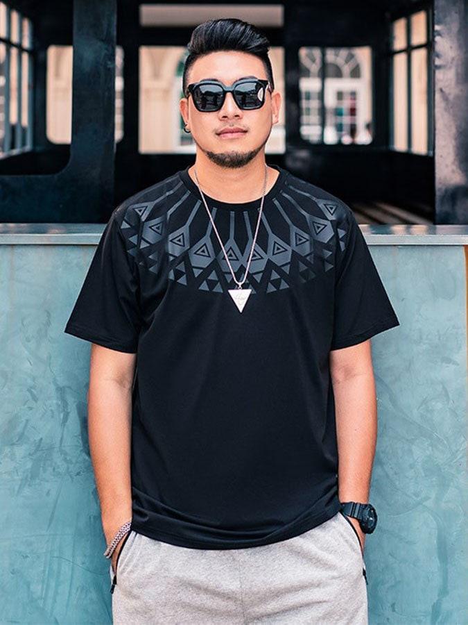 大尺碼.民族風圓領短袖T恤,,,L1010134,大尺碼.民族風圓領短袖T恤,