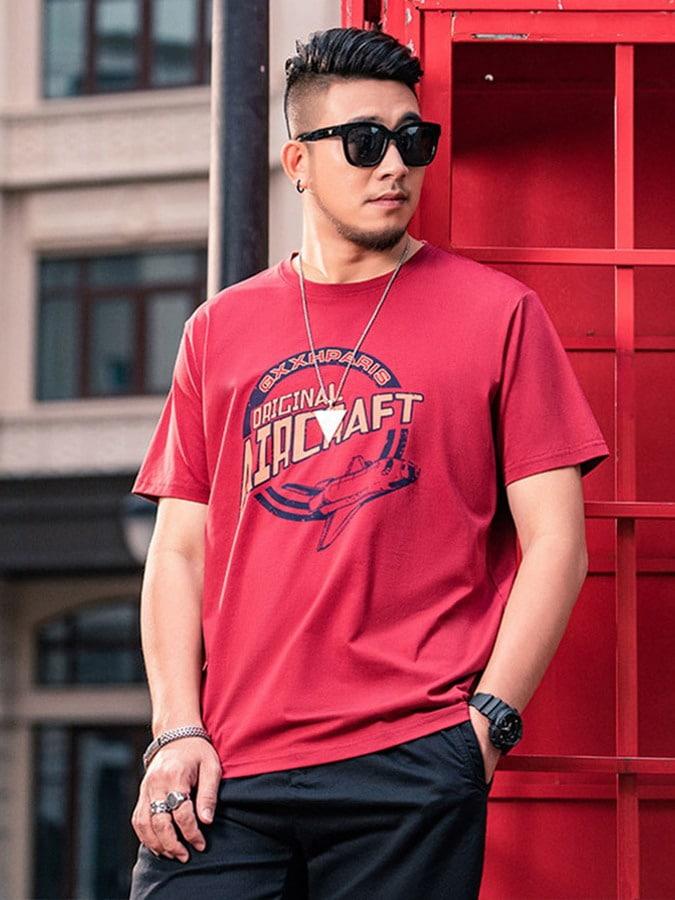 大尺碼.美版印花休閒短袖T恤,,,L1010165,大尺碼.美版印花休閒短袖T恤,