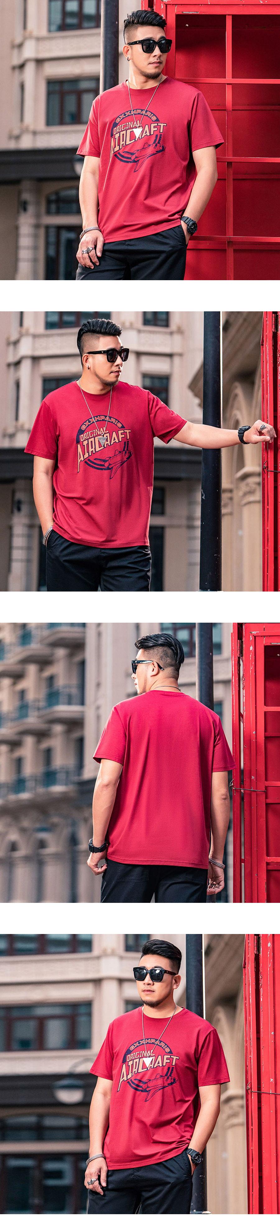 大尺碼.美版印花休閒短袖T恤