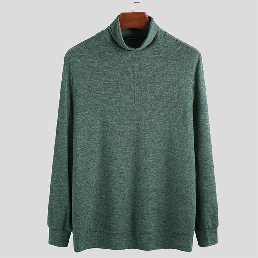 大尺碼.素色混紡高領毛衣,,,L1100017,大尺碼.素色混紡高領毛衣,