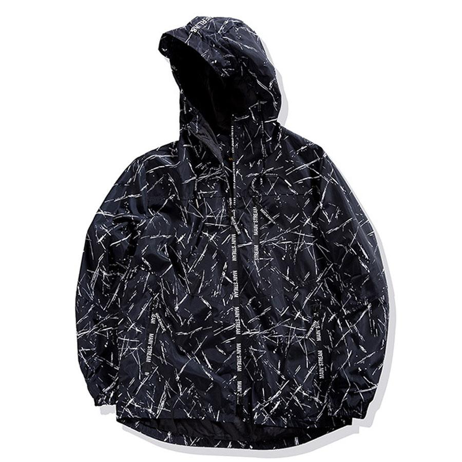 滿版線條.字母拉鍊大尺碼連帽外套,,,L2070003,滿版線條.字母拉鍊大尺碼連帽外套,