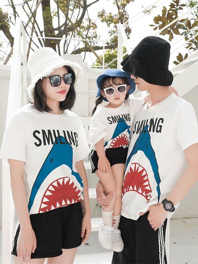 親子裝.呆萌鯊魚短袖T恤.童裝
