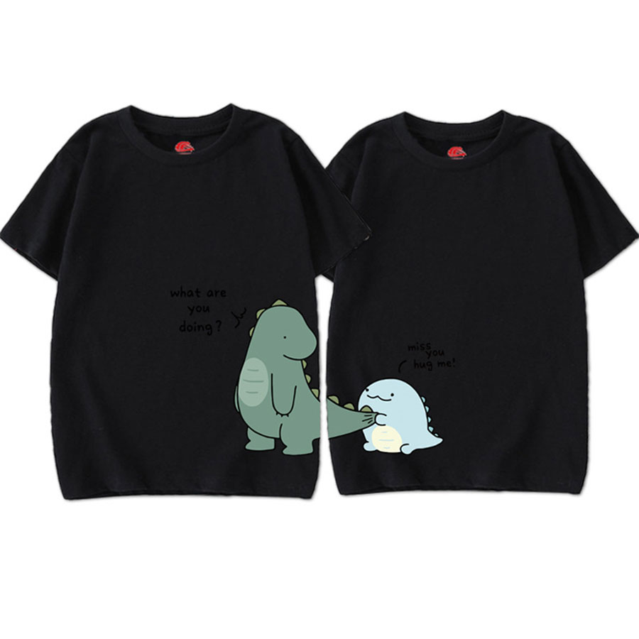 親子裝.可愛恐龍印花圓領短袖上衣.大人款,,,Y1010059,親子裝.可愛恐龍印花圓領短袖上衣.大人款,