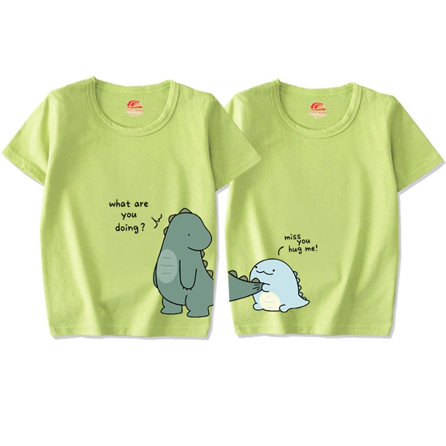 親子裝.可愛恐龍印花圓領短袖上衣.兒童款,,,Y1010060,親子裝.可愛恐龍印花圓領短袖上衣.兒童款,