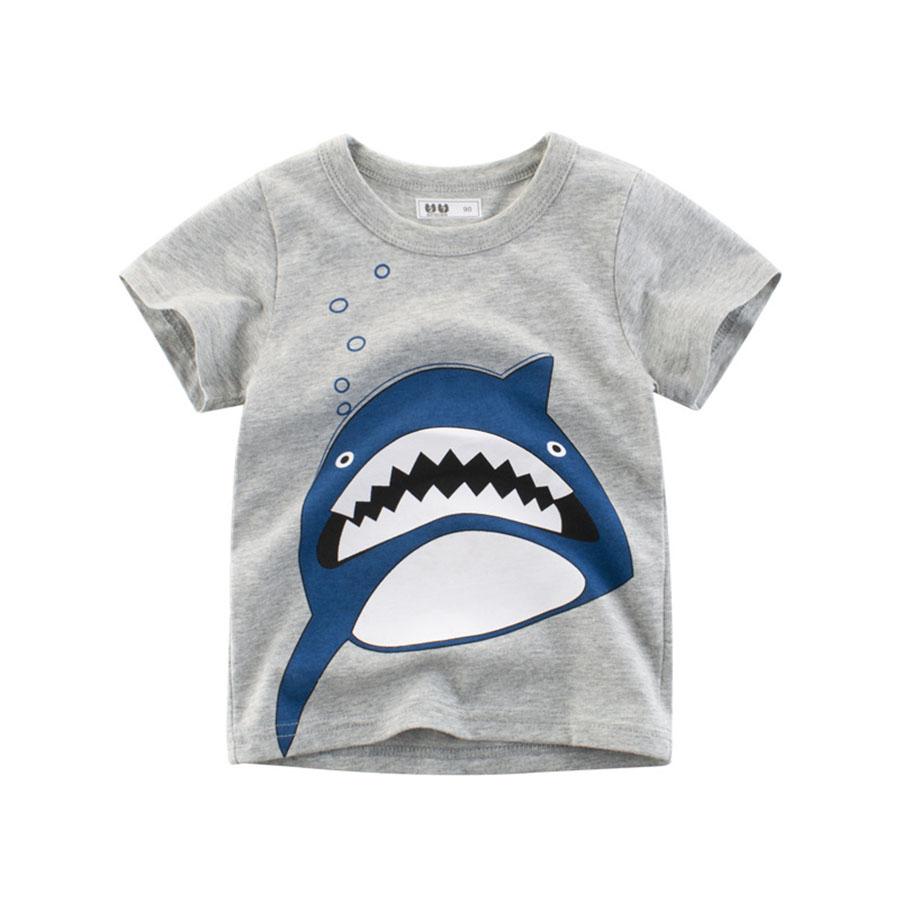 兒童扁扁鯊魚圓領短袖上衣.童裝,,,Y1010076,兒童扁扁鯊魚圓領短袖上衣.童裝,