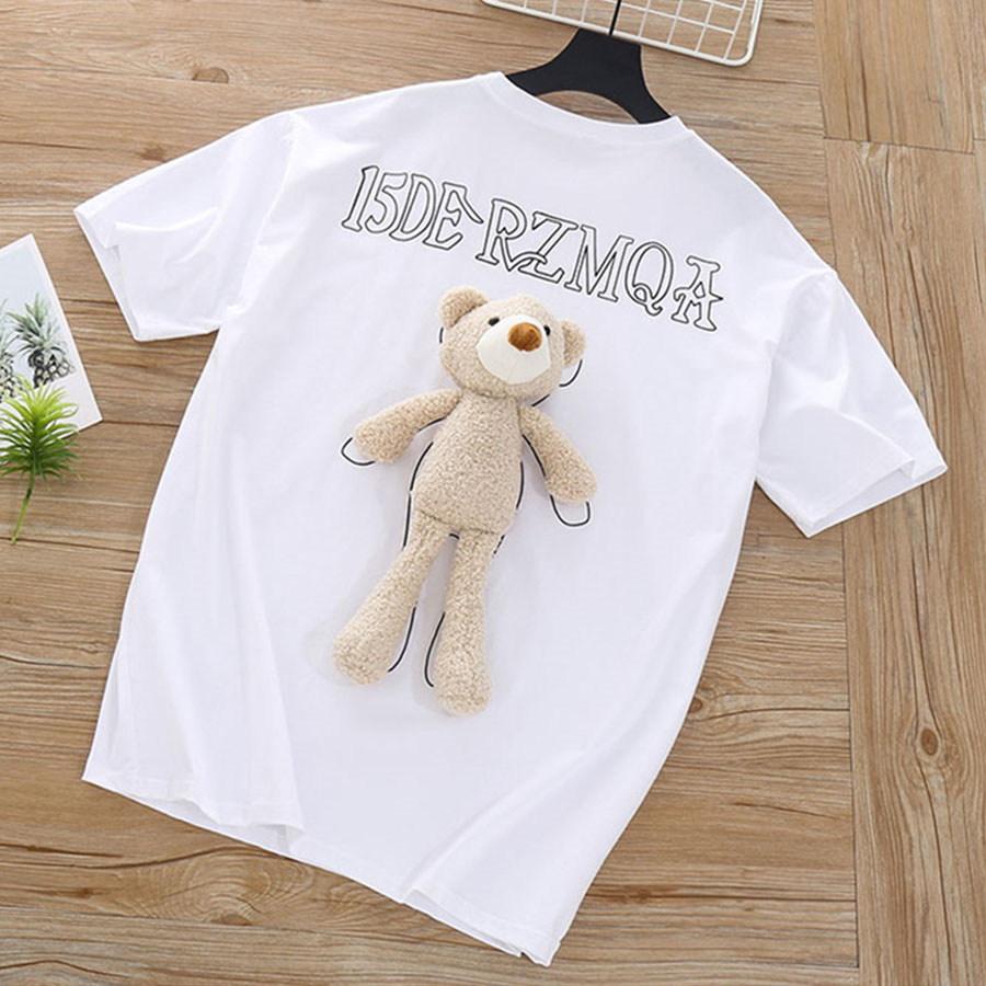 親子裝.創意背後小熊玩偶長版上衣.童裝,,,Y1020028,親子裝.創意背後小熊玩偶長版上衣.童裝,