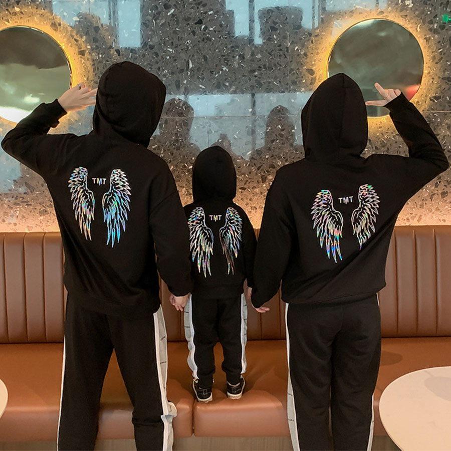 親子裝.天使翅膀長袖帽T.童裝,,,Y1020095,親子裝.天使翅膀長袖帽T.童裝,