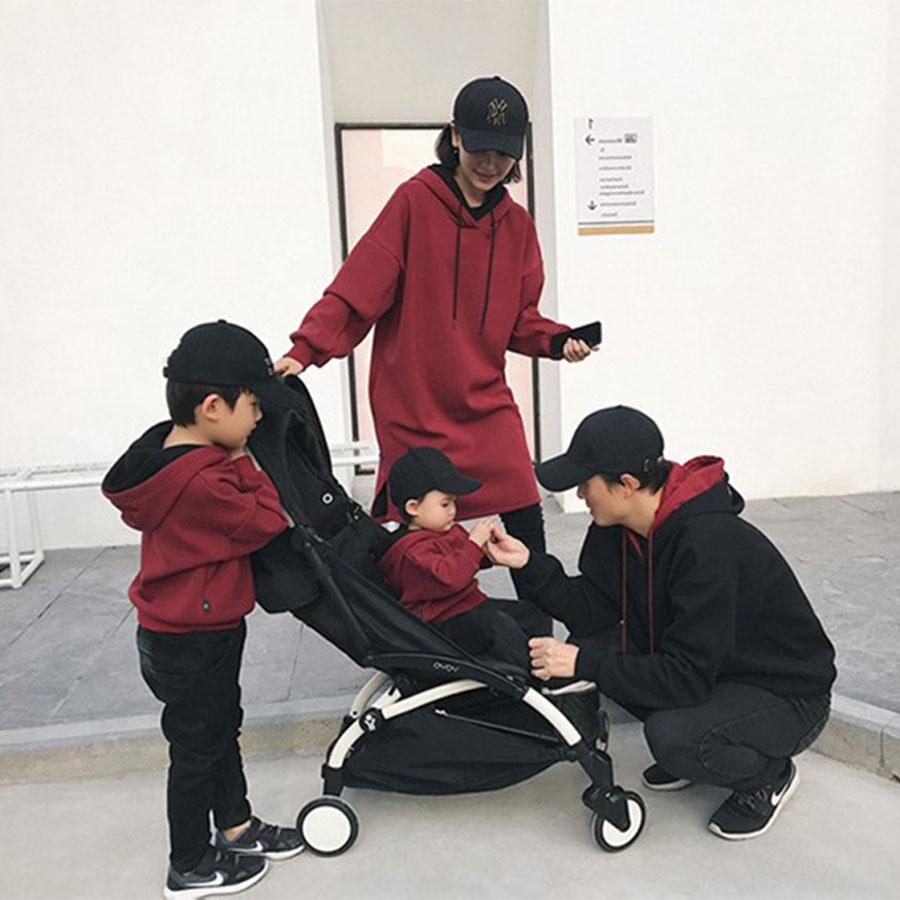 親子裝.素色字母韓版雙層連帽T.童裝,,,Y1020107,親子裝.素色字母韓版雙層連帽T.童裝,