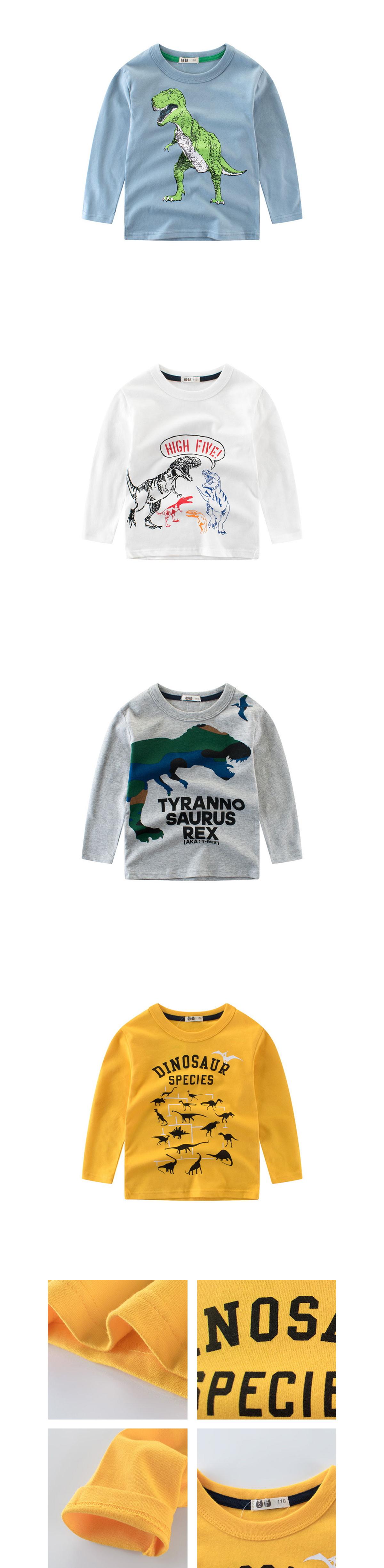 中大童恐龍系列.恐龍印花長袖上衣
