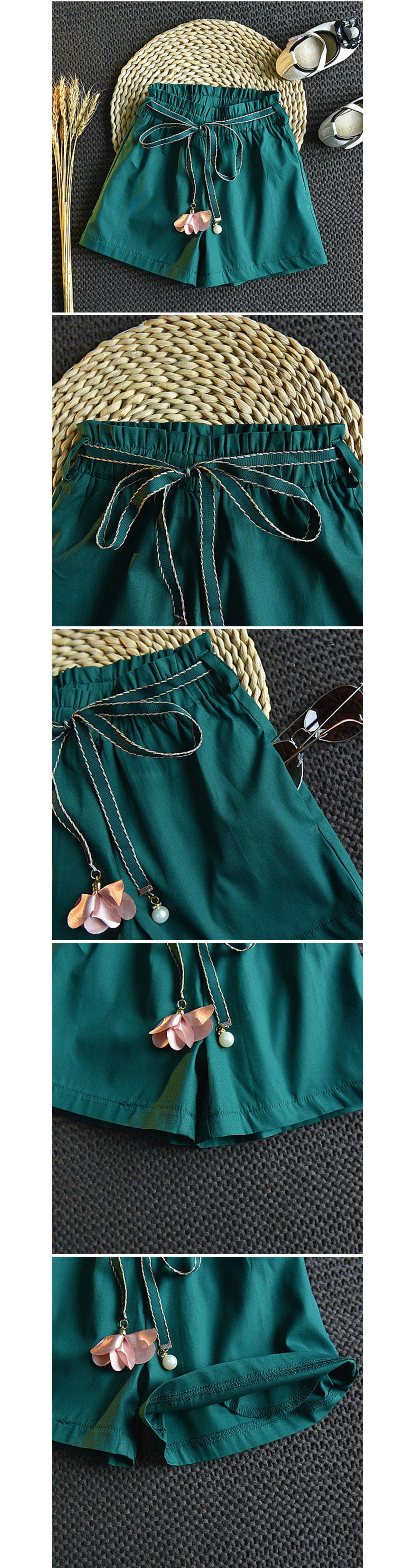 套裝.花邊無袖上衣寬鬆短褲兩件組.童裝