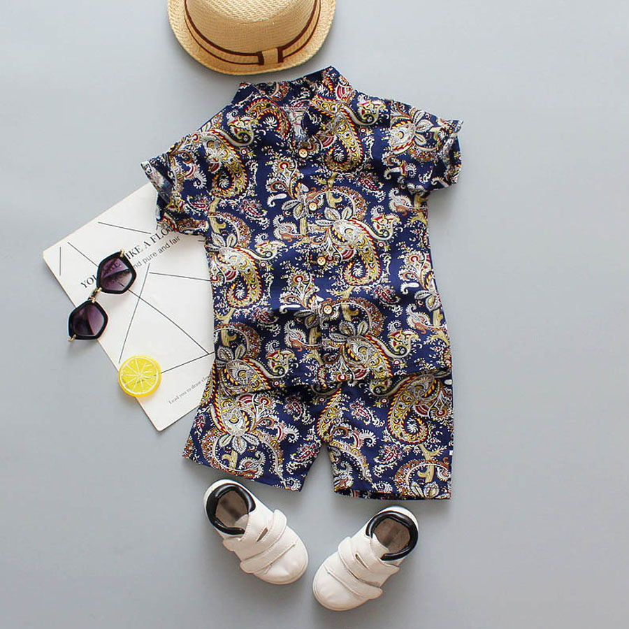 套裝.東方雕刻印花襯衫兩件組.童裝,,,Y1040089,套裝.東方雕刻印花襯衫兩件組.童裝,