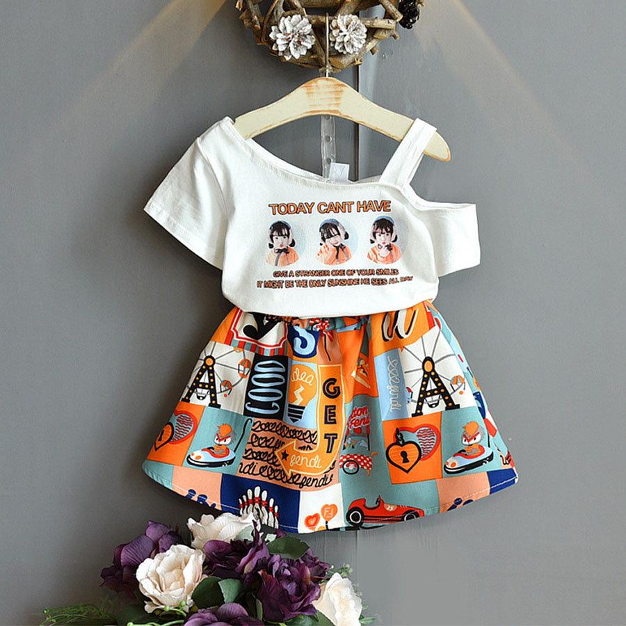 套裝.個性露肩女童印花兩件組.童裝,,,Y1040109,套裝.個性露肩女童印花兩件組.童裝,