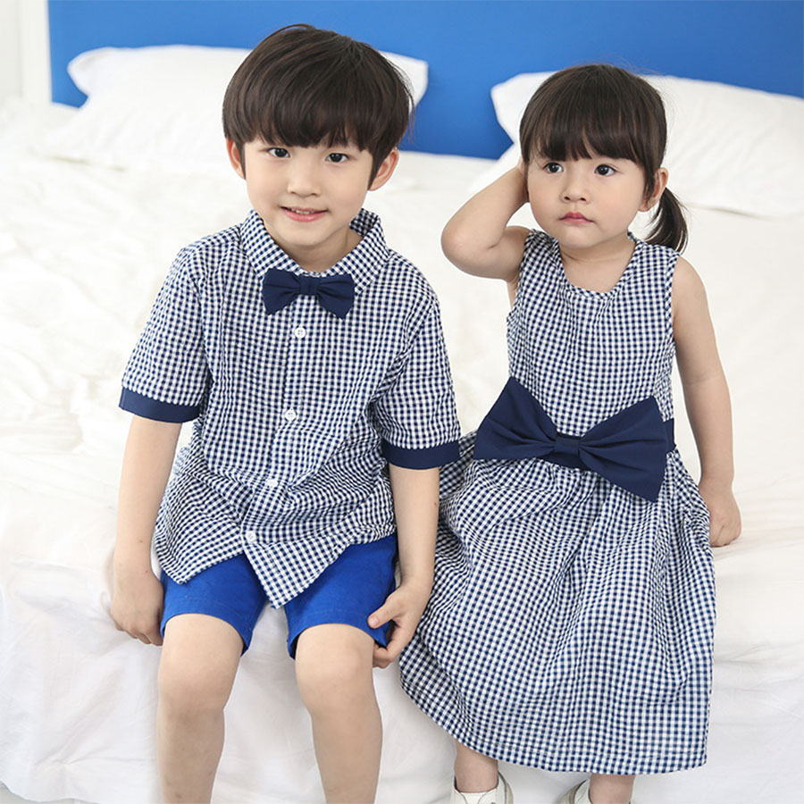 親子裝.寬鬆格子襯衫連衣裙.兒童款,,,Y1040130,親子裝.寬鬆格子襯衫連衣裙.兒童款,