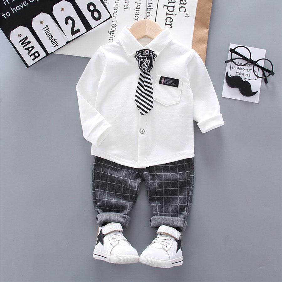 套裝.徽章領帶舒適襯衫兩件組.童裝,,,Y1040170,套裝.徽章領帶舒適襯衫兩件組.童裝,