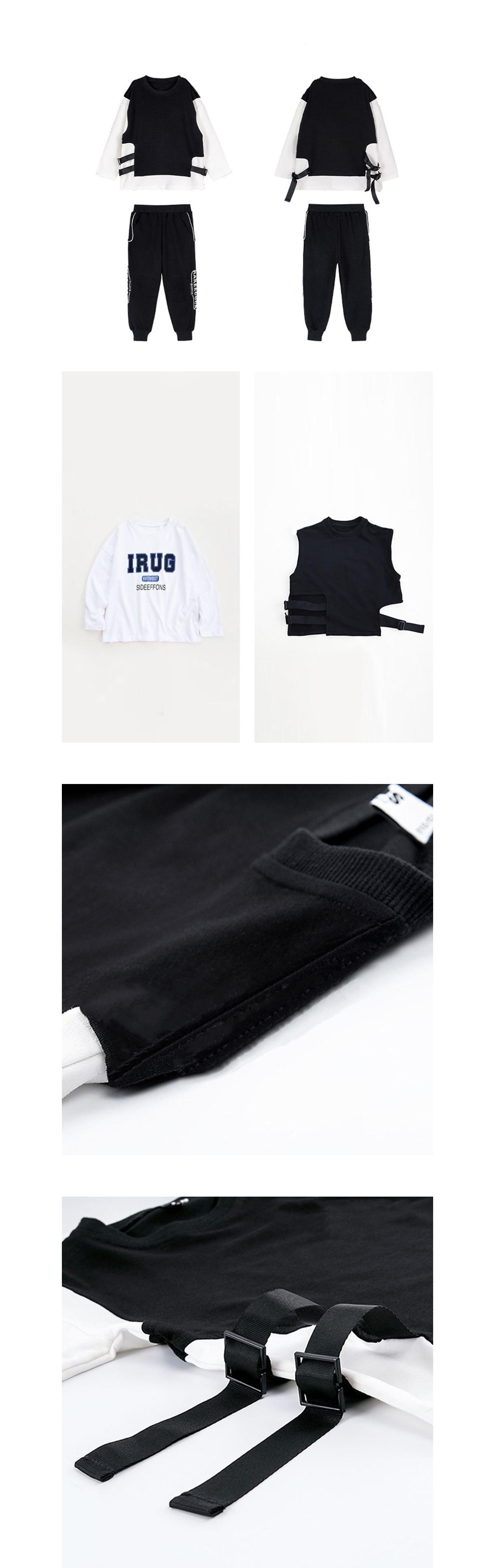 套裝.街頭個性上衣印花長褲兩件組.童裝