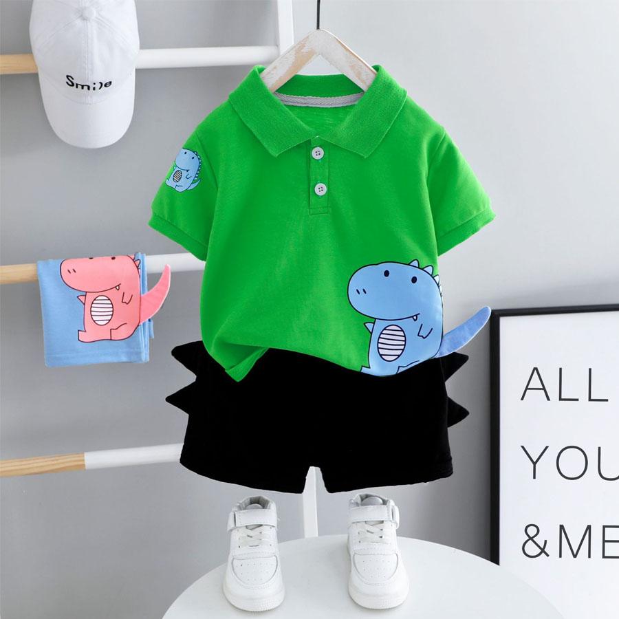 套裝.小恐龍造型褲POLO短袖兩件組.童裝,,,Y1040220,套裝.小恐龍造型褲POLO短袖兩件組.童裝,