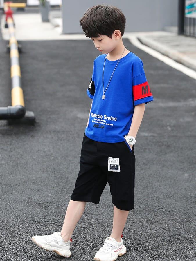 套裝.美式運動休閒短袖兩件組.童裝