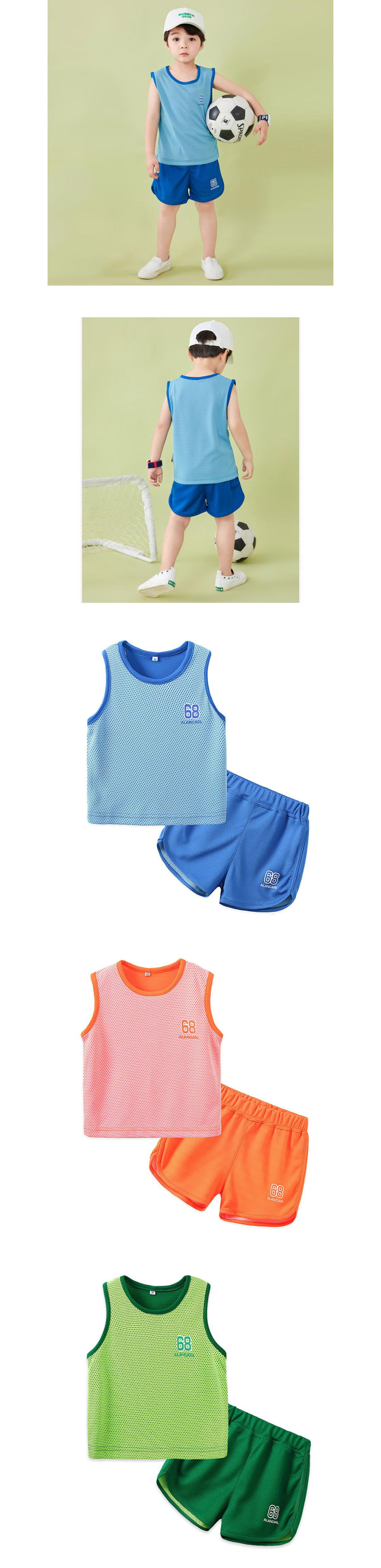 套裝.兒童背心球衣運動籃球服兩件組.童裝
