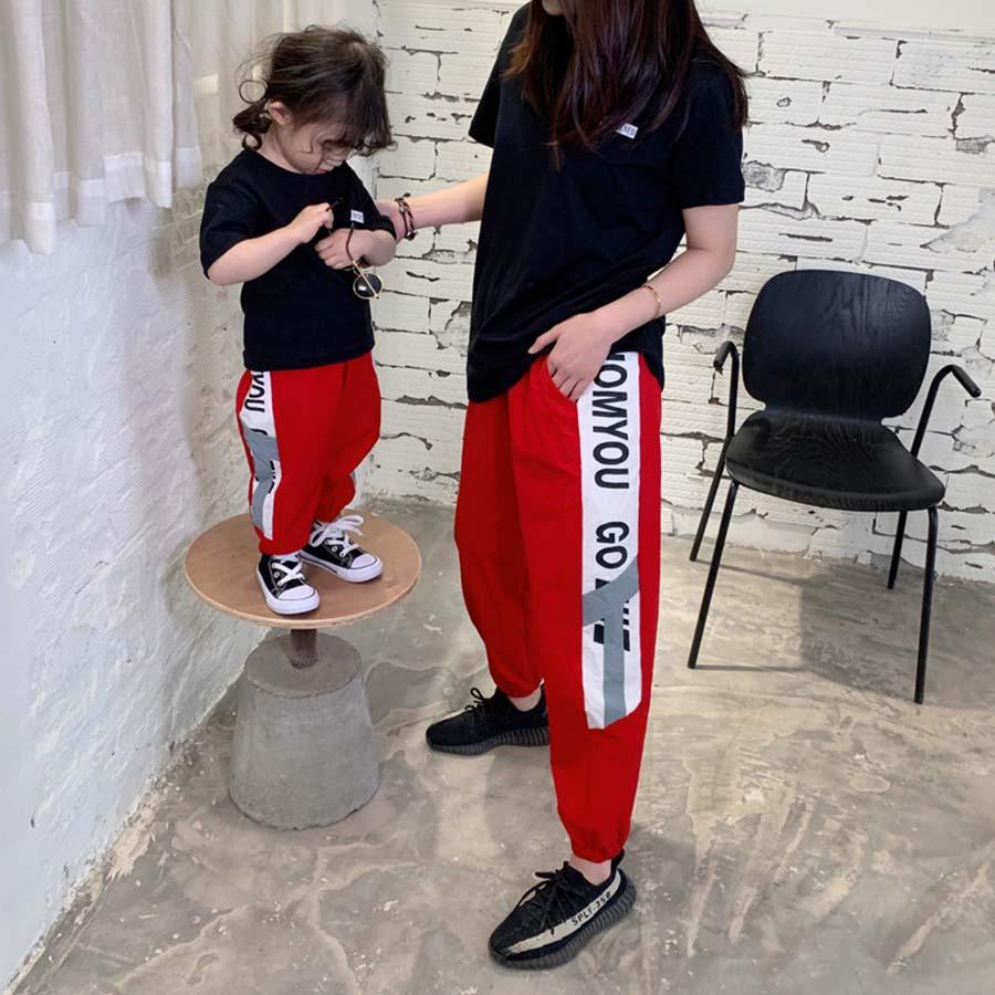 親子裝.街頭束口縮口運動褲.童裝,,,Y2010015,親子裝.街頭束口縮口運動褲.童裝,